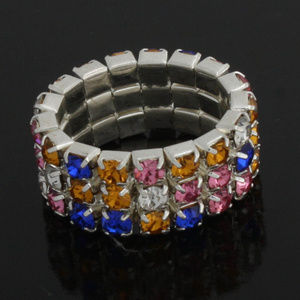 Christam Special multicolor Crystal Stretch ring